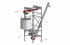 Big bag discharge systems